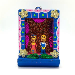 Handmade Shadow Box Nicho - Frida & Diego