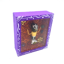 Load image into Gallery viewer, Handmade Square Shadow Box Niche - Lucha Libre Magnet