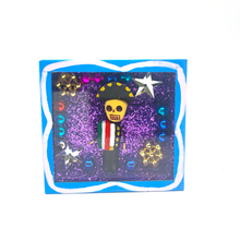 Load image into Gallery viewer, Handmade Square Shadow Box Niche - Mariachi Magnet