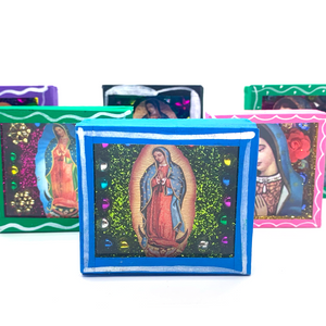 Handmade Square Shadow Box Niche - Virgen De Guadalupe Magnet