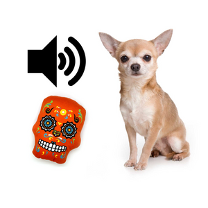 Día de los Muertos - Calavera Pet Toy with Squeaky Sound