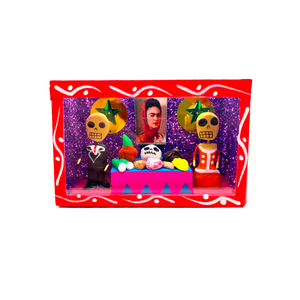 Handmade Shadow Box Nicho - Frida Ofrenda