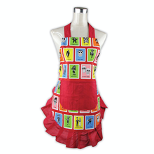 Load image into Gallery viewer, Red Loteria Apron