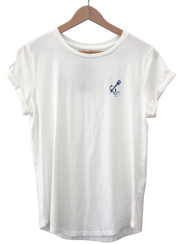 Anchor Tee - Antique White