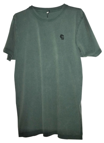 Pirate Skull Tee - Army Green
