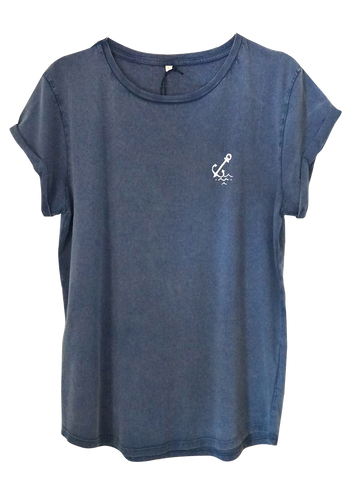 Anchor Tee - Denim Blue