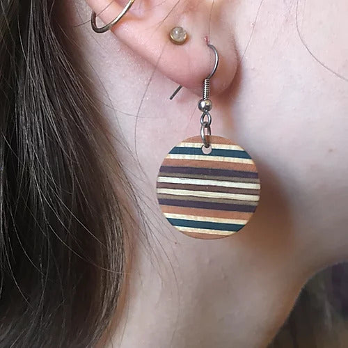 ARTISTIC CABINETWORK - WOODEN EARRINGS - Gabriel Perreault