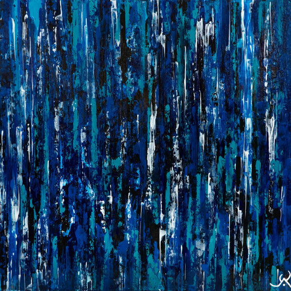 PEINTURE ABSTRAITE ACRYLIQUE - Sapphire master of the night, Vanessa Vaillant