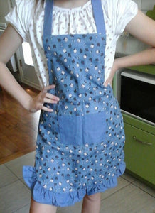 APRON for child 12-14 years old (slate blue), Michèle Gaudet