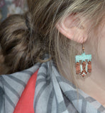 JEWELERY, EARRINGS mounted on charm, Louise Tremblay