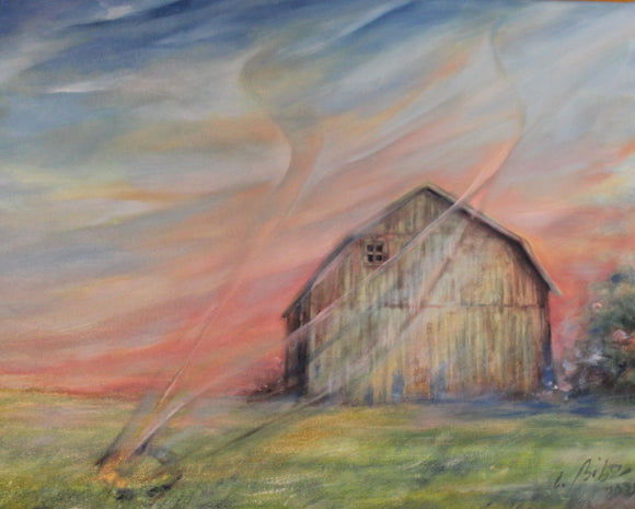 PAINTING, OIL ON CANVAS, LA GRANGE, Carole Bibo