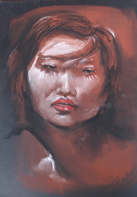 DRAWING WITH DRY PASTEL, Carole Bibo, RED LIPS