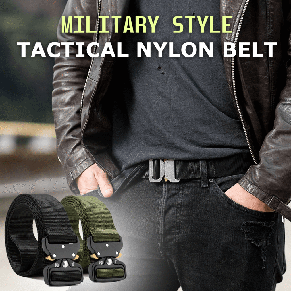 Military Style Nylon Tactical Belt