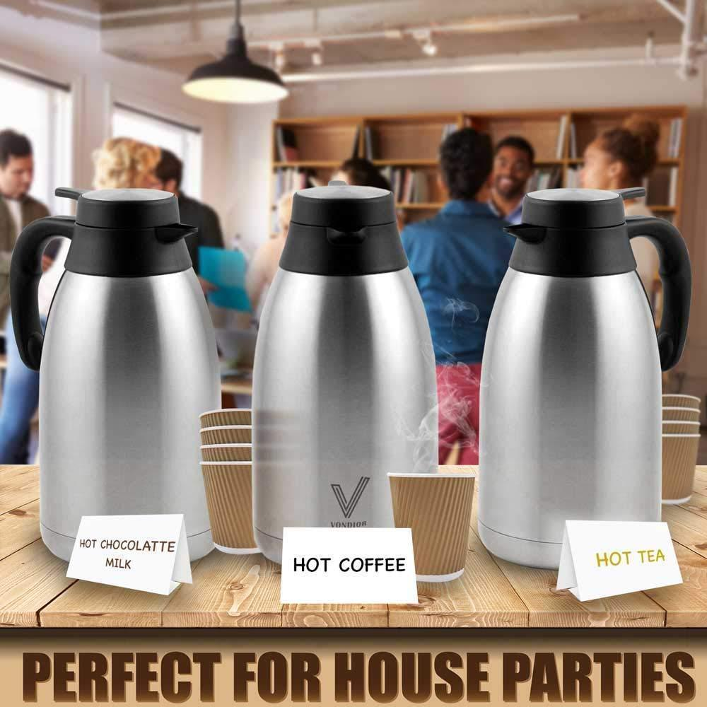 Insulated Thermal Coffee Carafe (68 Oz)