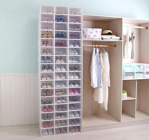 Stackable Shoe Box Organizer