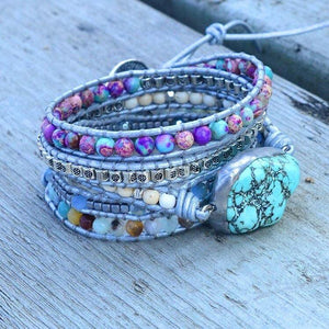 Healing Turquoise Protection Wrap Bracelet