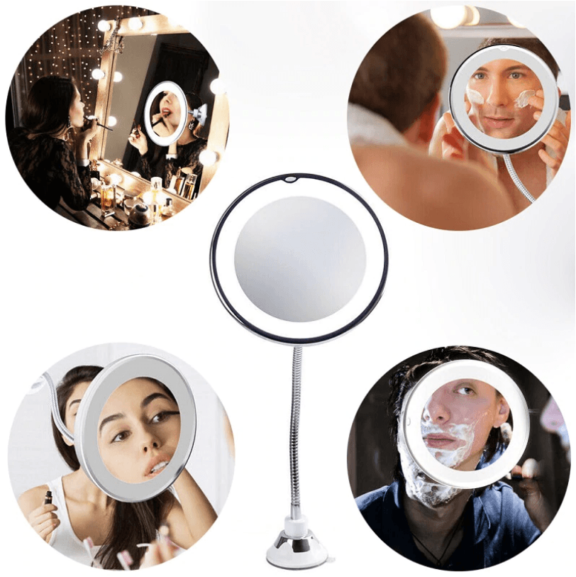 Flexible Magnification Makeup Mirror