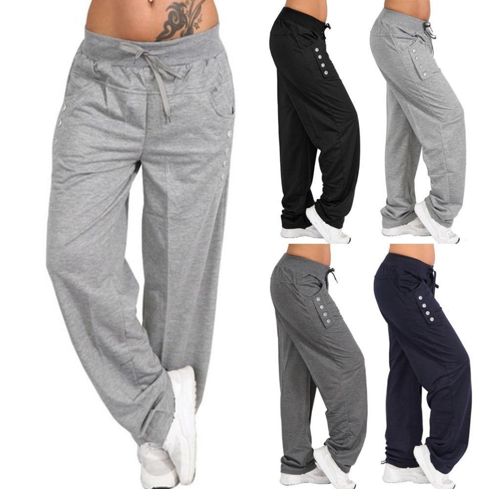 Women's Jogger Pants Elastic with 6 Pockets