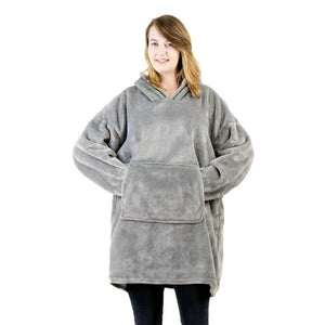 Winter Hooded Blanket with Pocket