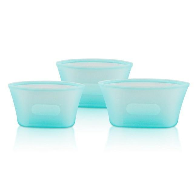 Stand Up Silicone Food Storage - Leakproof Containers