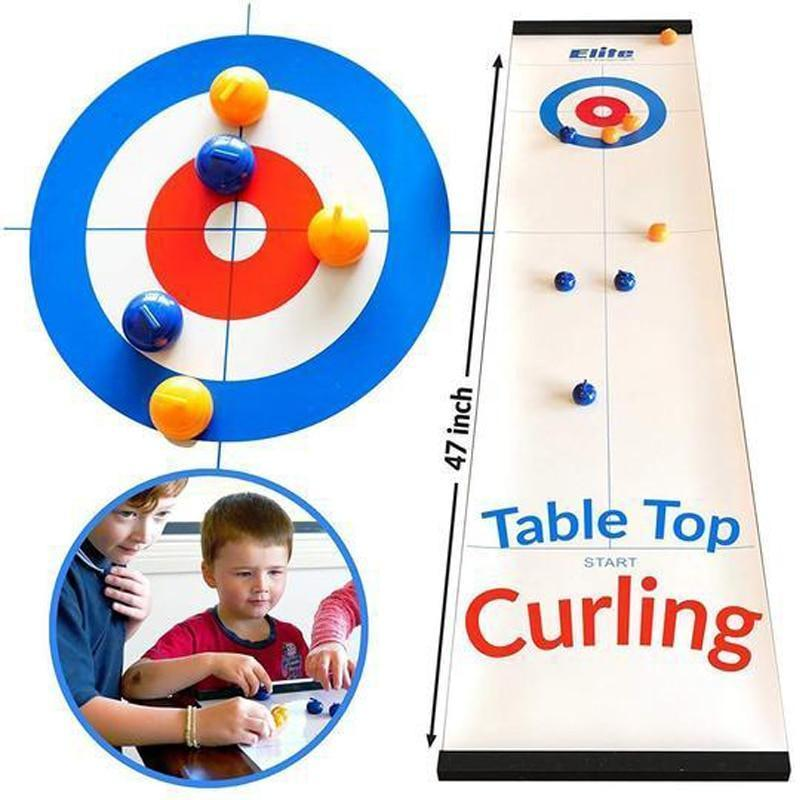 Tabletop Bullseye Curling Game - Compact