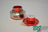 Works Bell Rapfix II Quick Release - Red Body/Silver Sleeve