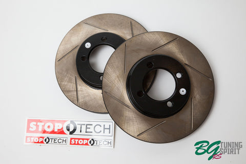 StopTech AE86 Slotted Power Alloy Brake Rotors