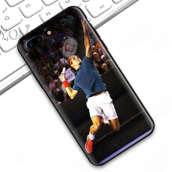 Roger Federer iPhone Case Black Silicone Soft Case