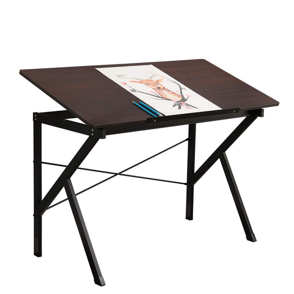table à dessin en noyer