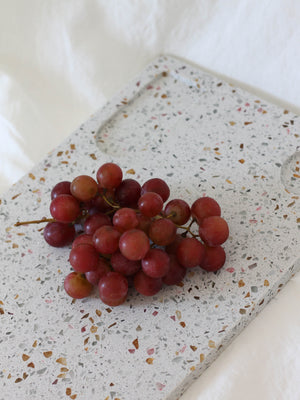 HUDSON WILDER AMALEA CORAL/GREY TERRAZZO SERVING BOARD