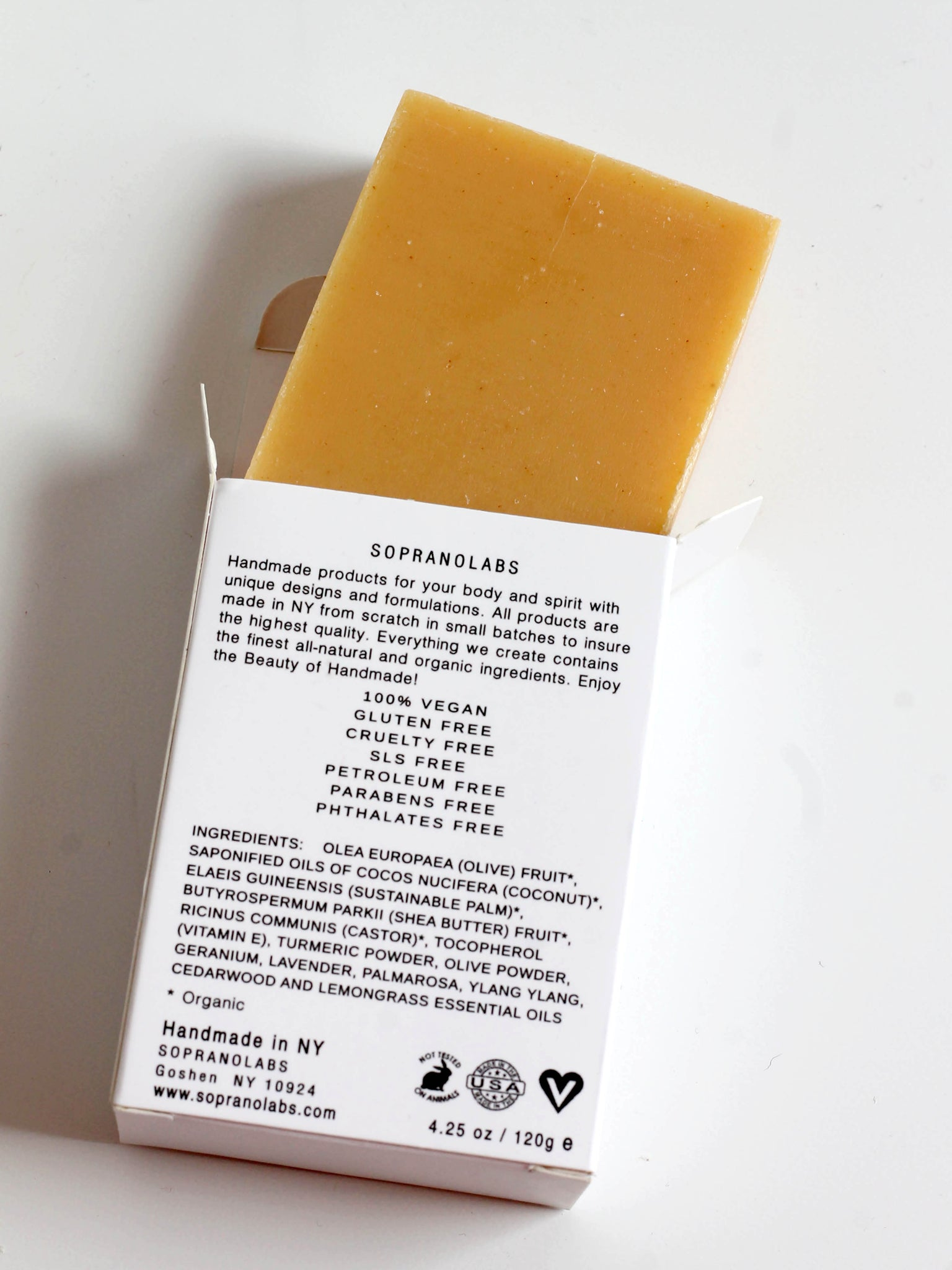 SOPRANO LABS FACIAL TURMERIC SOAP