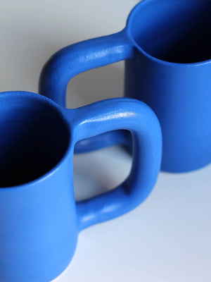 WORKADAY HANDMADE COBALT TALL MUG