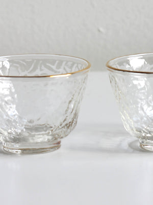 THE QI SMALL GOLD RIM TEA CUPS