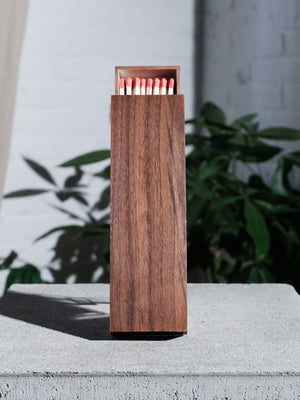 GLAZE LARGE WALNUT MAPLE MATCHBOX