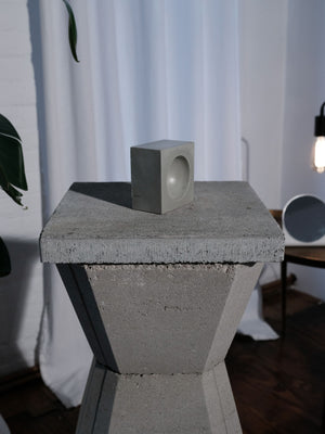 INSEK DESIGN GRAY CONCRETE ORB BOWL