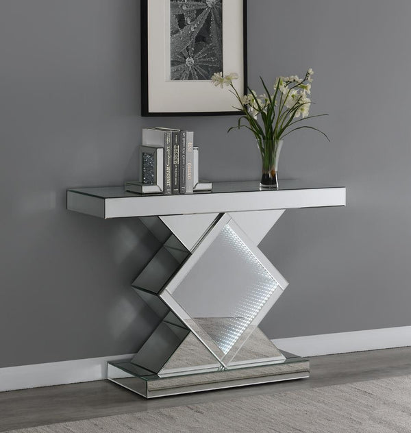 Console Table With Led Lighting Silver