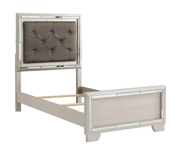 Lonnix - Gray - Twin UPH Panel Headboard