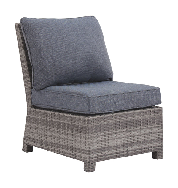 Salem Beach - Gray - Armless Chair w/Cushion (1/CN)