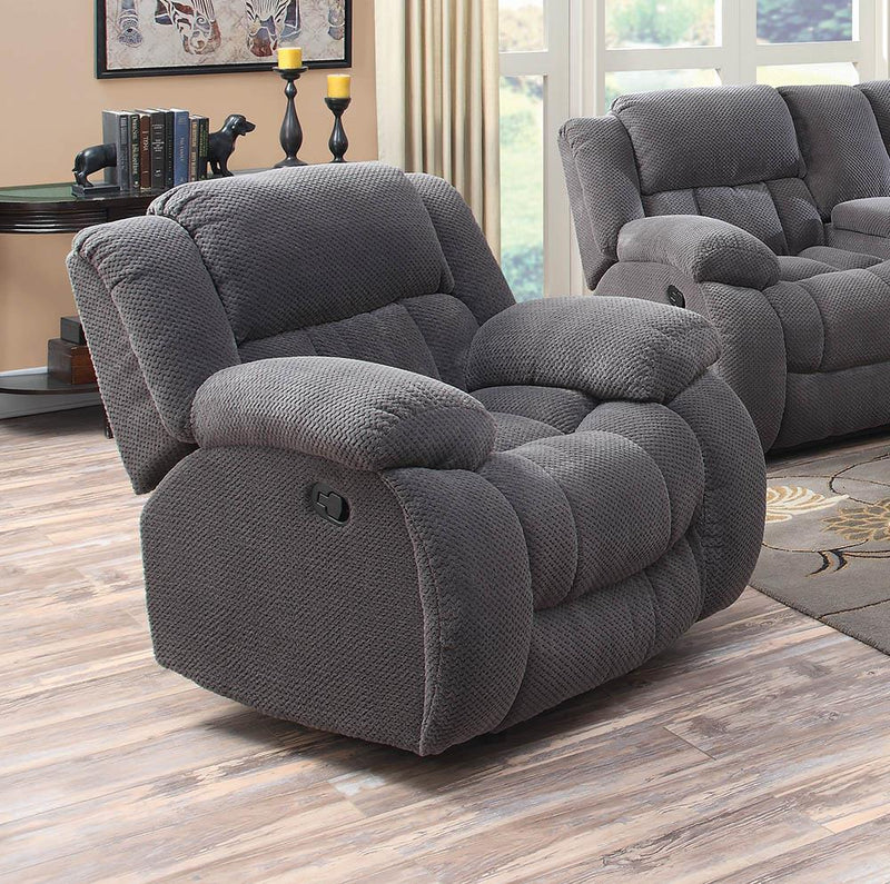 Weissman Motion Collection - Charcoal - Weissman Upholstered Glider Recliner Charcoal