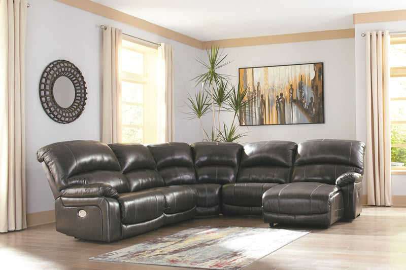 Hallstrung - Gray - LAF Zero Wall PWR Recliner, Armless Recliner, Wedge, Armless Chair & RAF Press Back PWR Chaise Sectional
