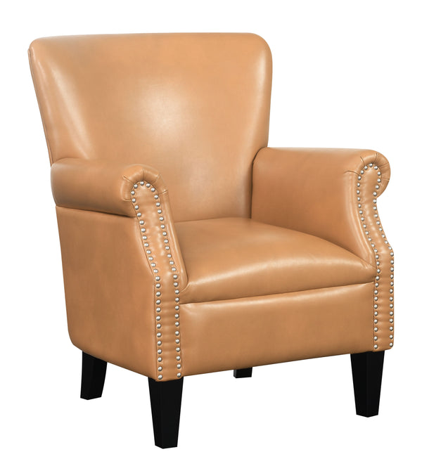 Oscar Accent Chair-Saddle