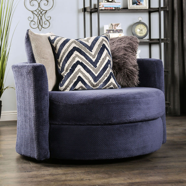 Griswold - Swivel Chair - Navy