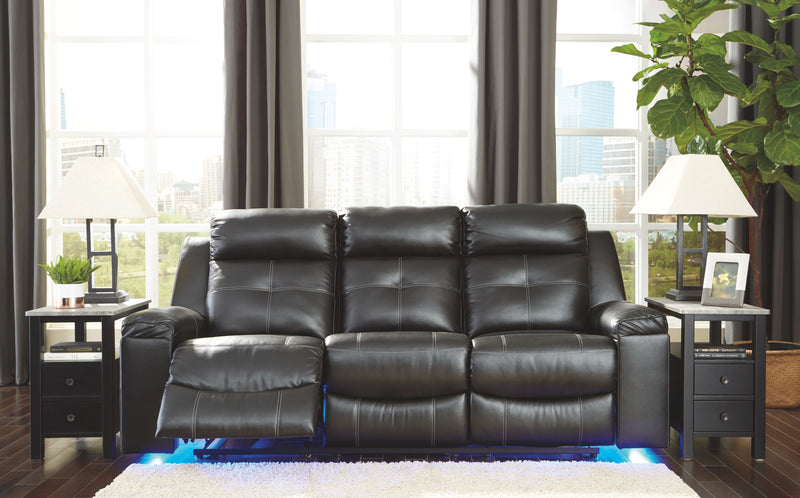 Kempten - Black - Reclining Sofa