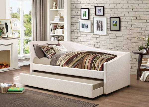 Twin Daybed With Trundle - Ivory - Hollywood Glam Ivory Daybed Box One