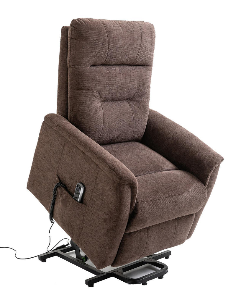 Brown - Power Lift Recliner With Storage Pocket Brown
