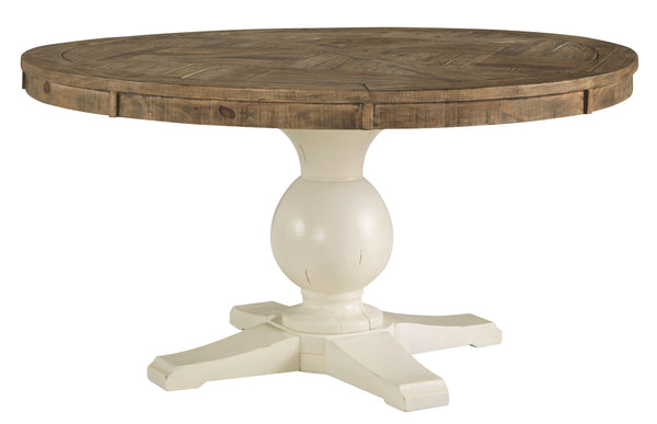 Grindleburg - Light Brown - Round Dining Room Table Top
