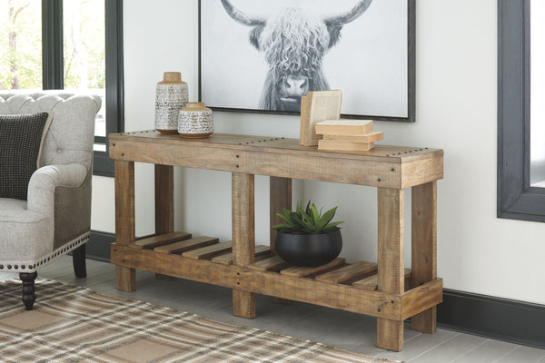 Susandeer - Brown - Console Sofa Table