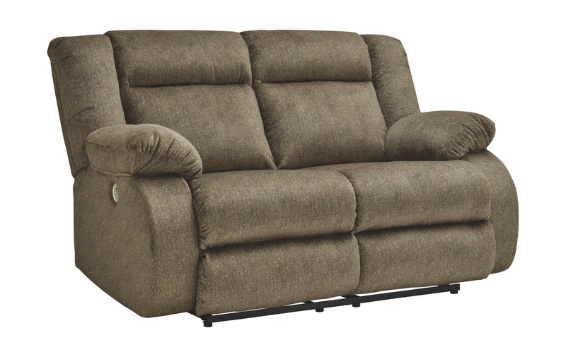 Burkner - Mocha - Reclining Power Loveseat