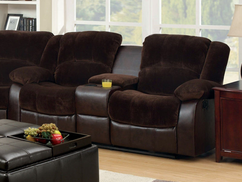 Winchester - Loveseat w/ Center Console - Brown