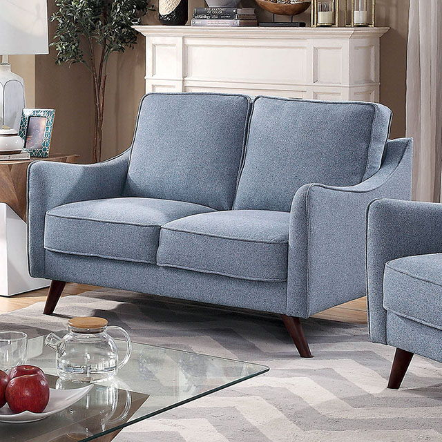 Maxime - Loveseat - Light Blue
